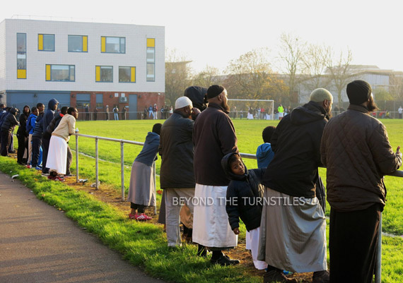 Somalis Watch Their Team in Cardiff Docklands (Tiger Bay, Wales)